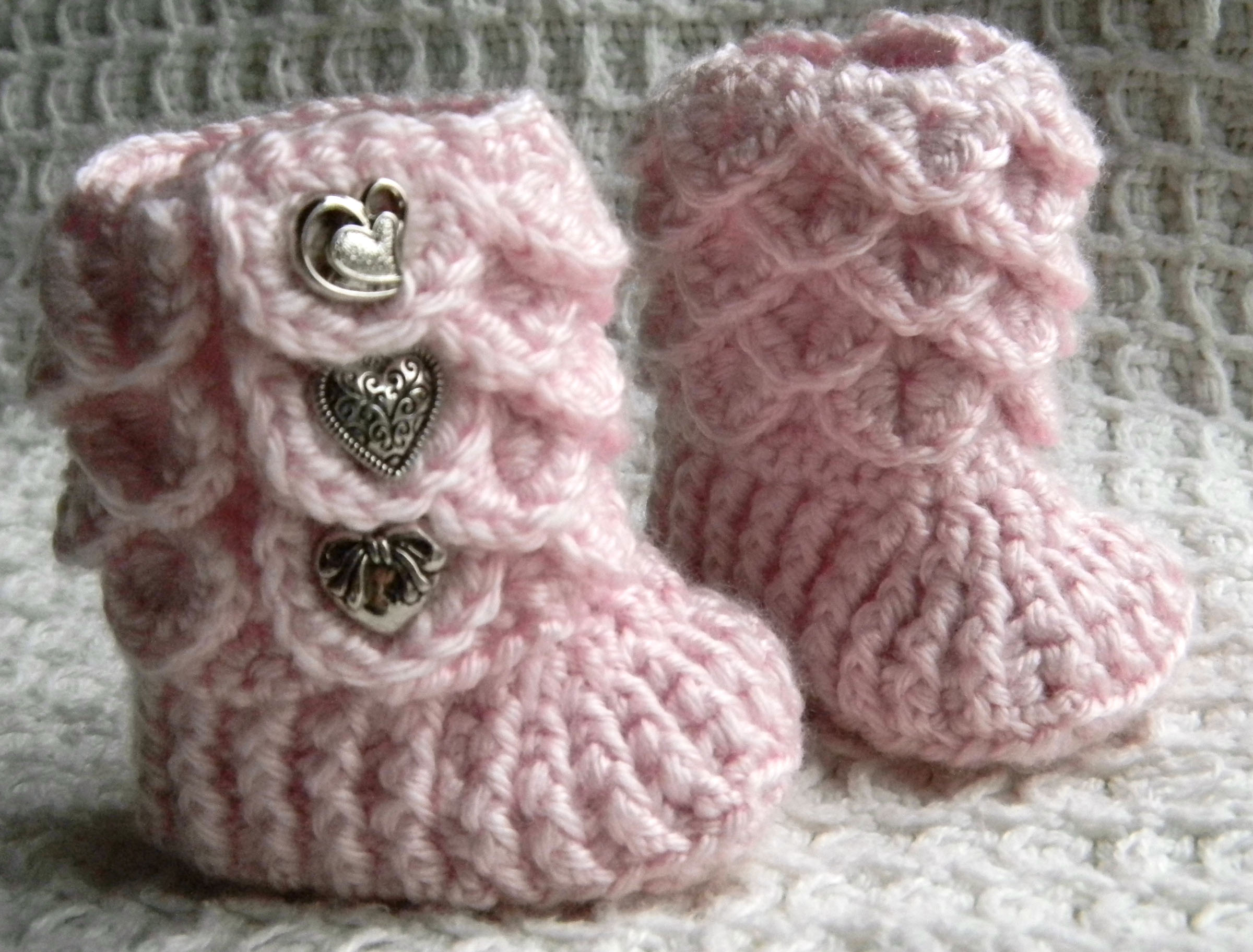 Crochet Pattern For Crocodile Stitch Baby Booties : Crochet Knit